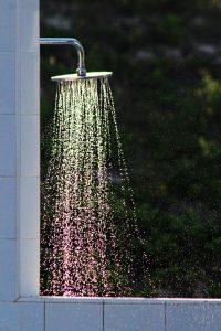 gravity fed shower