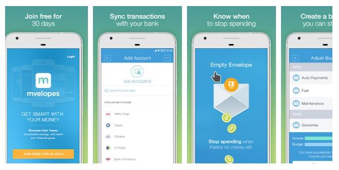 mvelopes budgeting app