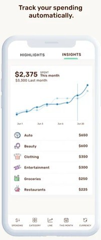 tracking your expenses with wally app